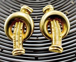 Italian-Made 14K Omega Back Earrings