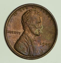 1909-V.D.B. Lincoln Wheat Cent - Circulated