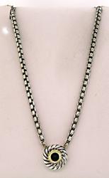 David Yurman Black Onyx Cookie Necklace