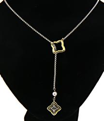 Fabulous David Yurman Lariat Style Necklace with Pearl