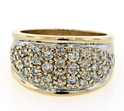 Awesome Pave Set Diamond Ring