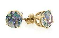 Iridescent Mystic Topaz Stud Earrings