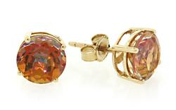 Gorgeous Orange Mystic Topaz Stud Earrings