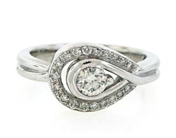 Asymmetric Diamond Halo Ring