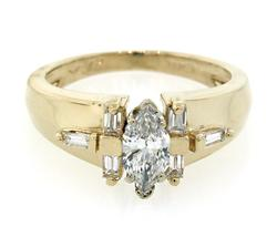 Contemporary Style Marquise Diamond Ring
