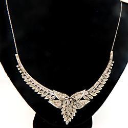 Very Ornate Multi Diamond Flower Necklace