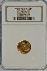 Perfect NGC MS70 Year 2000 $5 American Gold Eagle