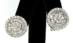 Amazing Diamond & 18KT Gold Bling Earrings