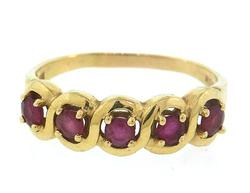 14kt Yellow Gold Ring with Rubies