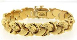 14kt Yellow Gold Puffy Bracelet