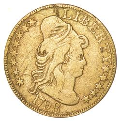 1798 $5.00 Capped Bust Gold Half Eagle - Large 8 - Circulated