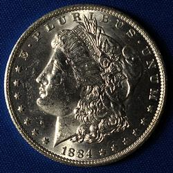 1884-O BU Morgan Silver Dollar