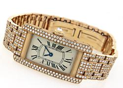 Cartier Tank Americaine with Diamonds in 18K
