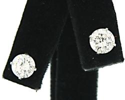 Very Desirable 2 ctw Diamond Stud Earrings, Certified