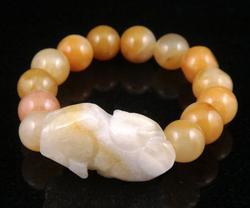 Crafted Yellow Jade Bracelet Bangle