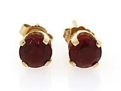 Brilliant Red Stone Stud Earrings