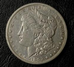 Nice Date 1893-CC Morgan Silver Dollar, Circ