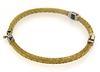 Trendy Woven Bracelet with Diamond Stations