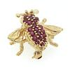 Striking Ruby Enhanced Fly Brooch