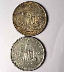 2 x 1924 Hugenot Walloon Commem 50C