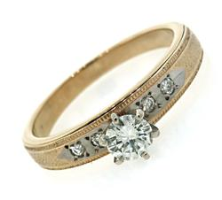 Elegant Multi Diamond & Milgran Ring
