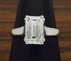 2.00CT Emerald Cut Diamond Solitaire