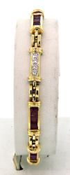 Very Tasteful Diamond & Ruby Bracelet in 18K