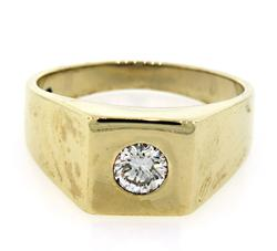 Gents Square Top Diamond Solitaire Ring