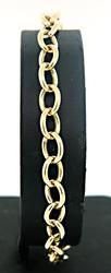Sporty Open Circle Link Bracelet