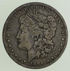 1894-O Morgan Silver Dollar - Circulated