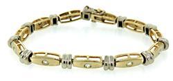 Chic Two Tone Diamond Bracelet