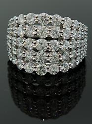 Amazing Dazzling 5 Row Diamond Band