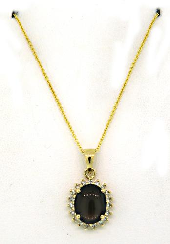 Fabulous black star sapphire diamond pendant necklace fabulous black star sapphire diamond pendant necklace aloadofball Choice Image