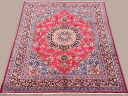 Outstanding 1950s Authentic Hand Woven Vintage Royal Persian Isfahan