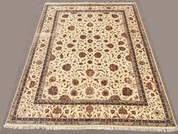 Fine 1970s Silk Flowers Hand knotted Vintage Persian Tabriz Rug