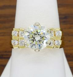 14K Yellow Gold 2.50CTW Diamond Ring