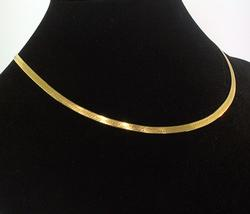 14kt Gold Herringbone Necklace