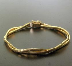 14kt Gold Double Link Bracelet