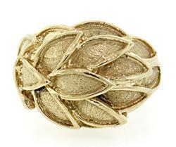 14KT Leaf Dome Ring