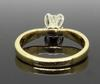 14kt Yellow Gold .78CT Princess Cut Diamond Solitaire