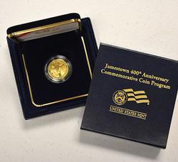 2007-W $5 Gold Jamestown Proof Commem, OGP