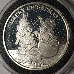 Merry Christmas '09 Fine Silver 1 oz Round
