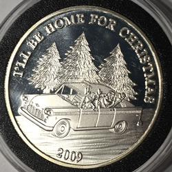 Ill Be Home For Christmas Fine Silver 1oz Round