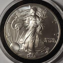 2003 American Silver Eagle $1