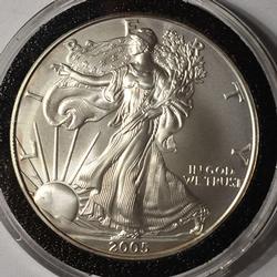 2005 BU American Silver Eagle $1