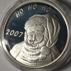 Santa 2007 Fine Silver 1oz Round