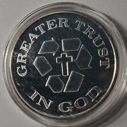 Trust In God 1997 Fine Silver Round, 1oz