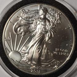 2011 BU American Silver Eagle $1