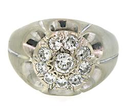 Enticing Gents Diamond Cluster Ring