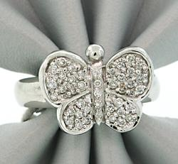 Adorable Diamond Pave Butterfly Ring